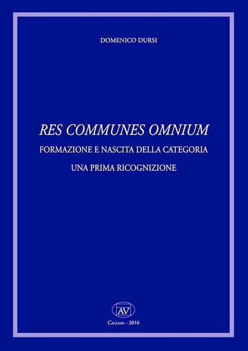 Res comunes omnium. Formazione e nascita della categoria. Una prima ricognizione