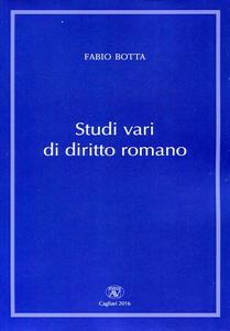 Studi vari di diritto romano