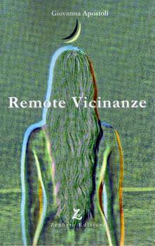 Remote vicinanze - Giovanna Apostoli - copertina