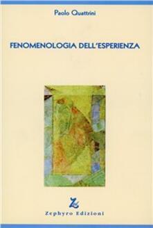 Fenomenologia dell'esperienza - Paolo Quattrini - copertina