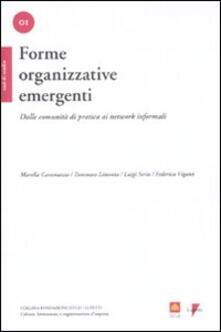 Forme organizzative emergenti. Dalle comunità di pratica ai network informali - copertina