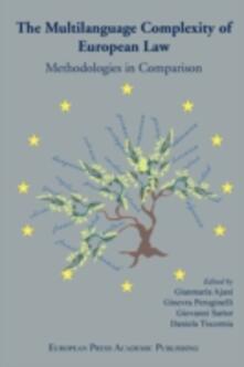 The Multilanguage Complexity of European Law: Methodologies in Comparison - copertina