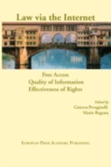 Law via the Internet. Free access, quality of information, effectiveness of rights - copertina