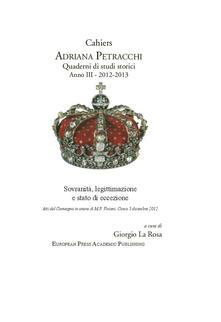Cahiers Adriana Petracchi (2012-2013) - copertina