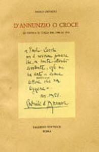 D'Annunzio o Croce. La critica in Italia dal 1900 al 1915