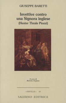Steamcon.it Invettive contro una signora inglese (Hester Thrale Piozzi) Image