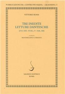 Tre inedite letture dantesche (Inf., XXI; Prg., V; Par. XII)