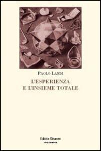 L' esperienza e l'insieme totale. L'orizzonte di Husserl e il principio del realismo critico