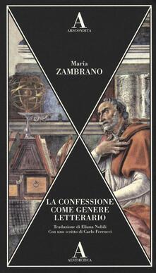 La confessione come genere letterario.pdf