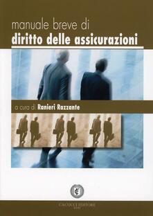 Manuale breve di diritto delle assicurazioni - Ranieri Razzante - copertina
