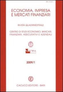 Economia, imprese e mercati finanziari. Rivista quadrimestrale (2009). Vol. 1 - copertina