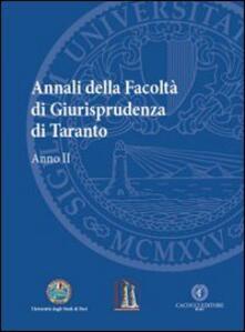 Warholgenova.it Annali della facoltà di giurisprudenza di Taranto. Vol. 2 Image