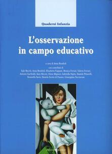 L' osservazione in campo educativo - copertina