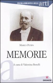 Memorie - Marius Petipa - copertina