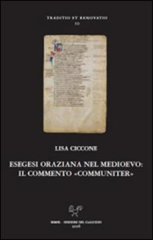 Esegesi oraziana nel medioevo. Il commento «communiter»