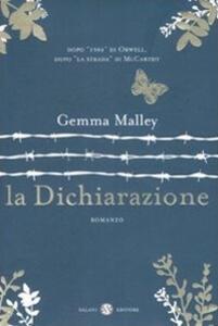 La dichiarazione - Gemma Malley - copertina