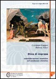 Il governo imprenditoriale. Vol. 3\1: Etica di impresa: considerazioni teoriche ed evidenze cliniche.