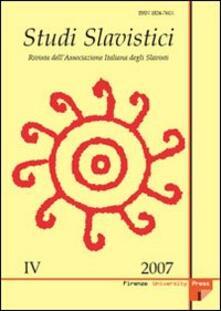 Laboratorioprovematerialilct.it Studi slavistici. Ediz. multilingue (2007). Vol. 4 Image