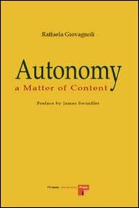 autonomy thesis Abstract learner autonomy was first defined as the learner's capacity to take charge of his or her own learning (holec, 1981) it has become part of the current orthodoxy of language learning and teaching research and practice (benson, 2009a.