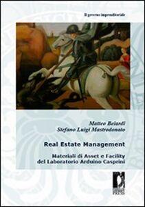 Real estate management. Materiali di asset e facility del laboratorio Arduino Casprini