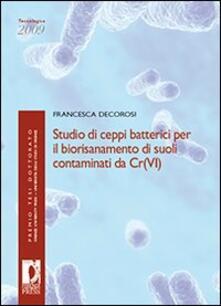 Festivalshakespeare.it Studio di ceppi batterici per il biorisanamento di suoli contaminati da Cr(VI) Image