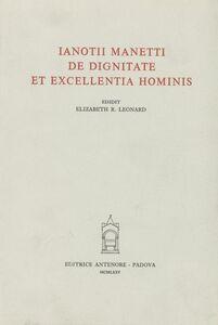 De dignitate et excellentia hominis