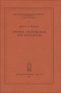 Studies on Petrarch and Boccaccio