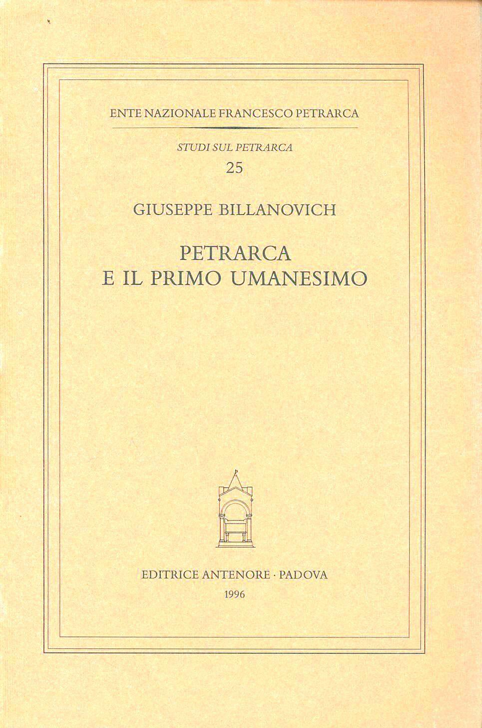 Petrarca e il primo umanesimo