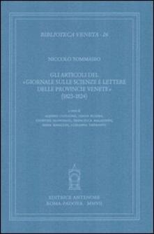 Amatigota.it Gli articoli del «Giornale sulle scienze e lettere delle provincie venete» (1823-1824) Image