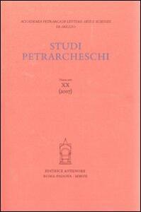 Studi petrarcheschi. Vol. 20