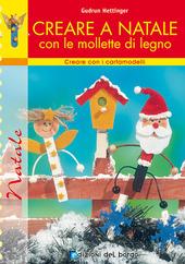Copertina  Creare a Natale con le mollette di legno