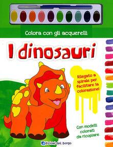 Librisulrazzismo.it Colora con gli acquerelli i dinosauri. Ediz. illustrata. Con gadget Image