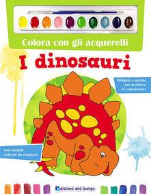 Colora con gli acquerelli. I dinosauri. Con gadget - copertina