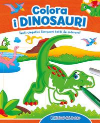 Colora i dinosauri. Con scatola con 6 pennarelli - Ambrosini Ilaria - wuz.it