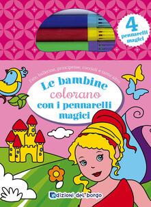 Radiosenisenews.it Le bambine colorano con i pennarelli magici. Con 4 pennarelli magici Image