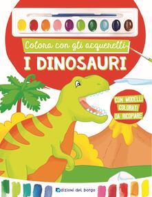Ilmeglio-delweb.it Colora con gli acquerelli i dinosauri. Con gadget Image