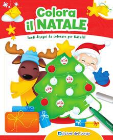 Premioquesti.it Colora il Natale. Tanti disegni da colorare per Natale! Con scatola con 6 pennarelli Image