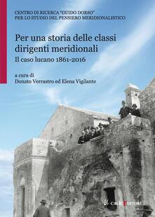 Vitalitart.it Per una storia delle classi dirigenti meridionali. Il caso lucano 1861-2016 Image