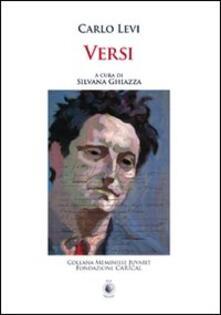 Versi - Carlo Levi - copertina