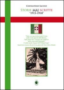 Storie mai scritte - Costantino Sacino - copertina