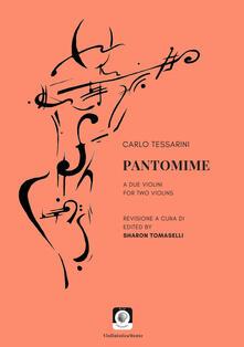 Pantomime a due violini-For two violins - Carlo Tessarini - copertina