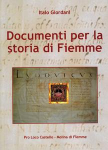 Documenti per la storia di Fiemme