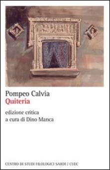 Quiteria - Pompeo Calvia - copertina