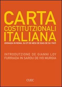 Carta Costituzionali italiana. (Donada in Roma su 27 de mesi de idas de su 1947)