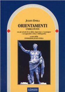 Orientamenti - Julius Evola - copertina