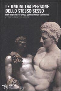 Foto Cover di Le unioni tra persone dello stesso sesso. Profili di diritto civile, comunitario e comparato, Libro di  edito da Mimesis