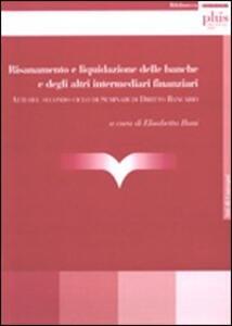 Risanamento e liquidazione delle banche e degli intermediari finanziari