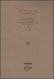 Studi classici e orientali (2008). Vol. 54.pdf