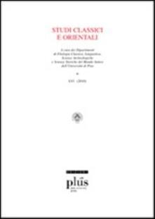 Mercatinidinataletorino.it Studi classici e orientali (2010). Vol. 56 Image