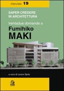 Fondazionesergioperlamusica.it Trentadue domande a Fumihiko Maki Image